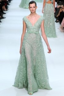 Mint Wedding Dress By Elie Saab