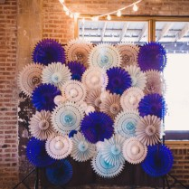 Modern Chic Blue, White, And Silver Wedding