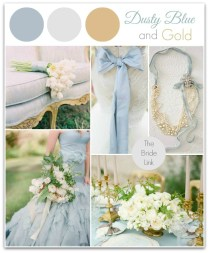 My Wedding Colors! Dusty Blue And Gold Wedding Inspiration