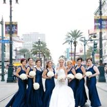 Navy Blue White Elegant Wedding
