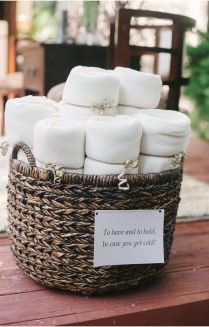 Offering Cozy Blankets To Your Guests For Outdoor Weddings