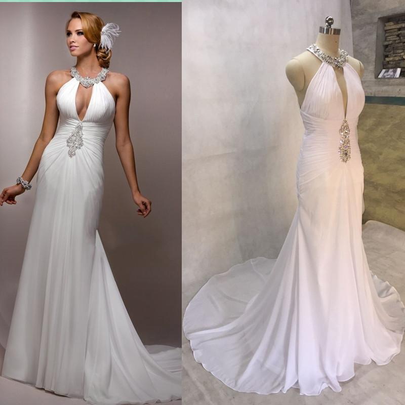Wedding Dresses Cheap Halter Top