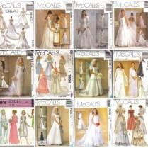 Oop Bridal Wedding Gown Bridesmaid Dress Misses Size Mccalls