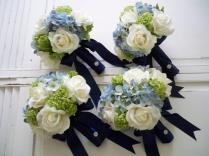 Package Classic Navy And White Realtouch Rose And Silk Blue
