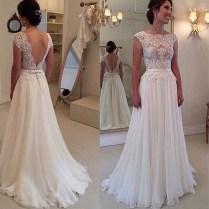 Popular Backless Lace Stunning Wedding Dress