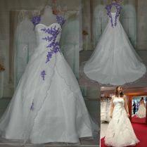 Purple And Cream Wedding Dresses