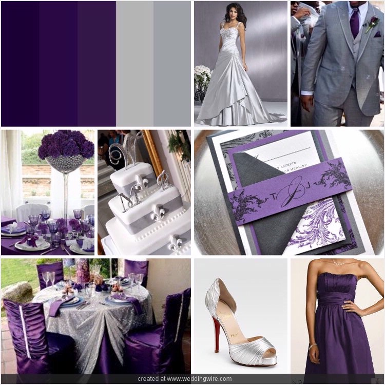 Purple silver wedding junglespirit Image collections