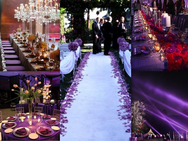 Purple And Blue Wedding Theme