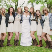 Rustic Casual Grey Mismatched Bridesmaids Collection Brown