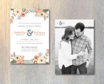 Rustic Wedding Reception Invitation Card