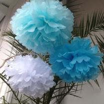 Set Of 3 Home Decor Pom Poms Decorations Paper Decors Weddings