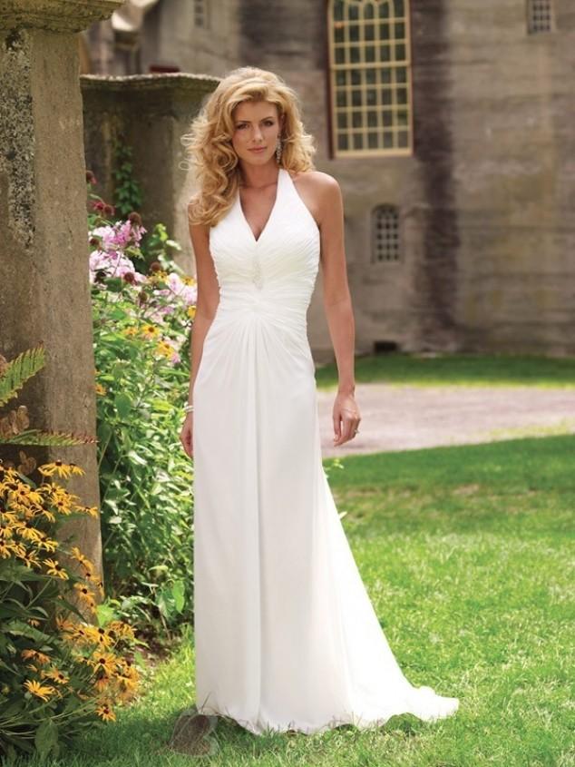 Simple Color Wedding Dresses