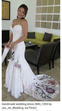 Skull Wedding Dress