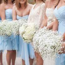 Stacy & Ben's Pastel Blue And White Vintage Chic Wedding At Davies