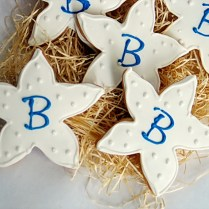 Starfish Cookies, Wedding Cookies By Rolling Pin Productions