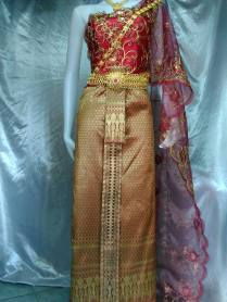Thai Wedding Dress Bridal Gown Traditional Thailand Embroidery