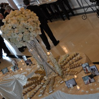 The Wedding Flowers At The Place Card Table Chicago Wedding Experts