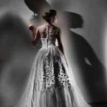 Vintage Inspired Wedding Dress In Polka Dots