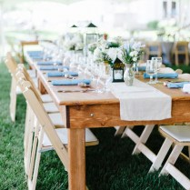 Virginia Wedding With Farm Tables By Laura Gordon