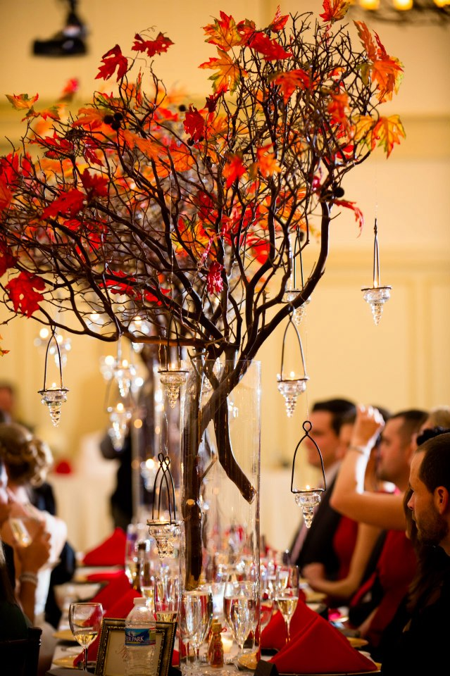 Autumn Themed Wedding Table Decorations Deweddingjpg