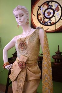Wedding Dress Thai Traditional Gold Princess Gown Hand Nice