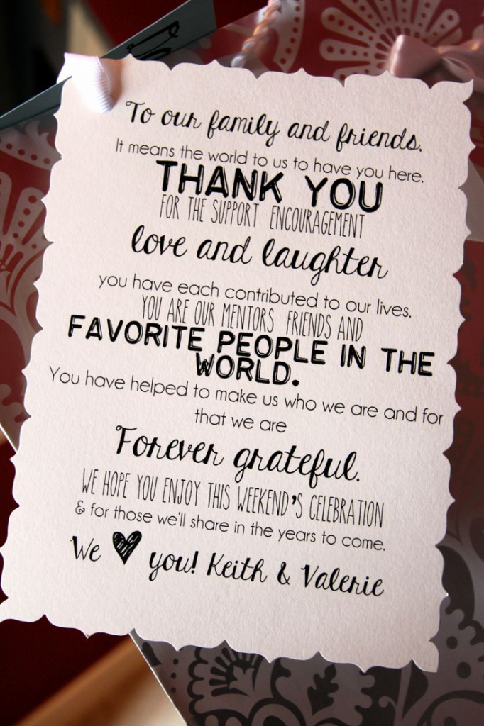 Welcome Message For Wedding Guests