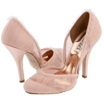 Wedding Shoes Blush Crystals Bows On Heels Short Heels Wide Sizes
