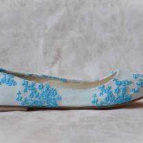 Wedding Shoes Lace Wedding Shoes Blue Wedding Flats Blue Shoes