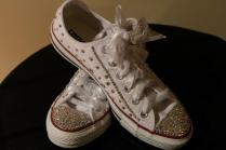 Wedding Sneakers, Bling Sneakers, Wedding Shoes, Swarovski