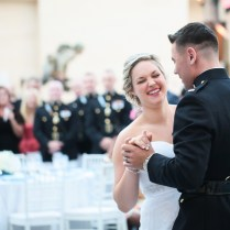 White And Blue Military Wedding Reception In Virginia Margo