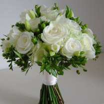 White Bridal Bouquet Roses Calla Lilies Real By Timelesswedding
