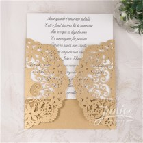 Wholesale Cheap Laser Cut Lace Wedding Invitations Wpl0042