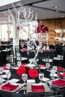 Appealing Red Black And White Wedding Decorations 62 About Remodel
