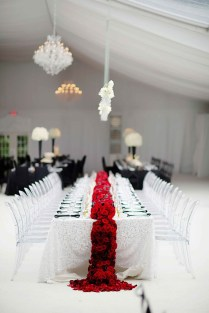 Red Black And White Wedding Elegant Black And White Wedding That