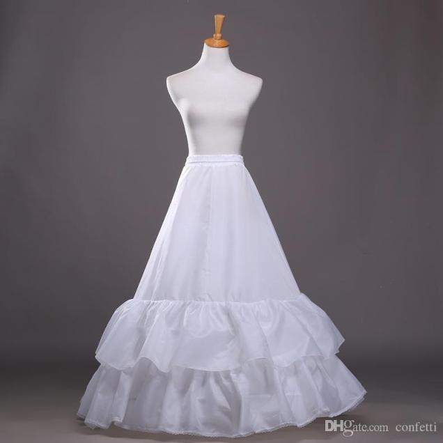 Best Quality Sweep Train Petticoats Ball Gown Wedding Dresses