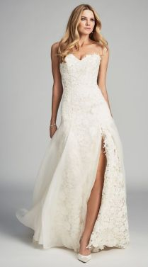 Captivating Wedding Dress With Slit 76 For Wedding Dresses Online