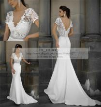 Fitted Lace Wedding Dress Size Mermaid Vintage Lace Wedding
