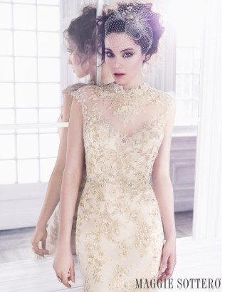 Friday Favorite Gold Lace Sheath Wedding Dress Love Maggie