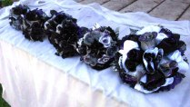 Handmade Gothic Inspired Wedding Bouquets In Purple, Black, And