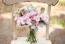 Light Pink And Sage Bridal Bouquet Peonies Lambs Ear