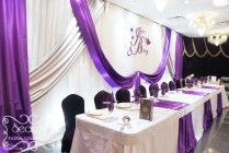 New Purple Silver And White Wedding Decor 42 For Wedding Table