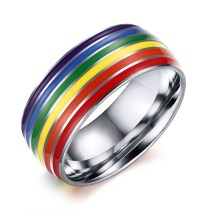 Rainbow Lgbt Rings Jewelry Engagement Party Bagues Titanium 316l