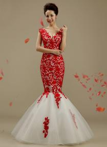 Red And White Lace Wedding Dress Naf Dresses