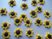 Royal Icing Mini Sunflowers