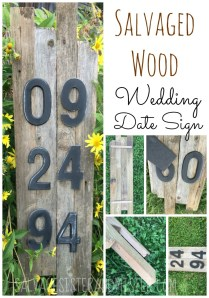 Salvaged Wood Wedding Date Sign