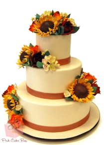 Sunflower Wedding Cake » Fall Wedding Cakes