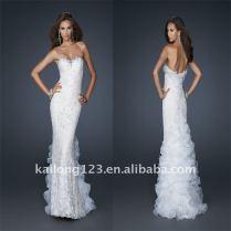 Tight White Wedding Dress