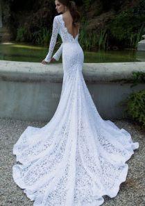 Tight White Wedding Dresses 3774