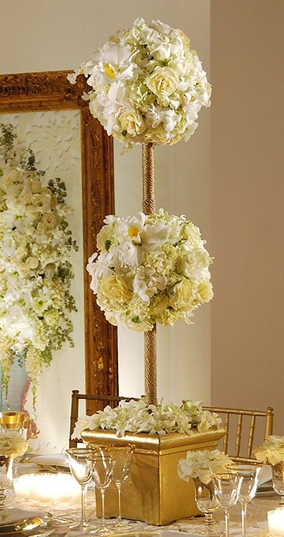 Topiary Centerpieces For Weddings