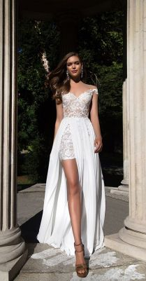 Wedding Dress With Slit Best 25 Slit Wedding Dress Ideas On